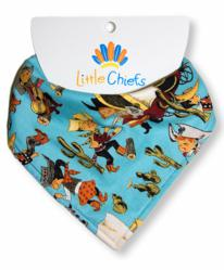 Blue Cowboy Little Chief Bandana Bib